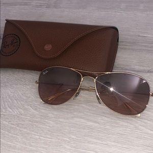 Ray•Ban gold glasses